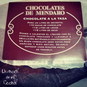 receta chocolate